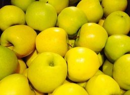 yellow apples, background