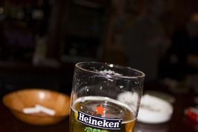 heineken beer in a glass