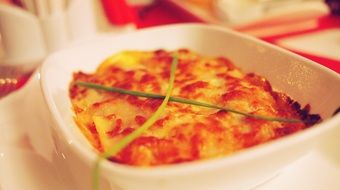 lasagna, traditional Italian food