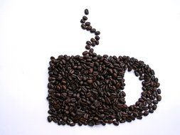 coffee beans as cup shape