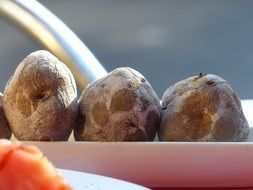 canarian wrinkly potatoes, traditional boiled potato dish