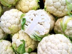 a lot of cauliflower