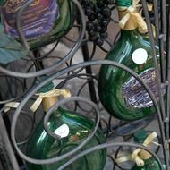 old green wine bottles