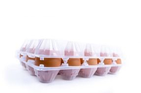 eggs in a plastic box