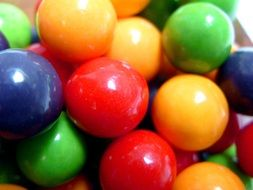 multi-colored gobstopper candy