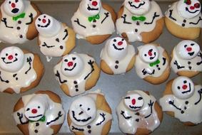 snowman cakes at christmas