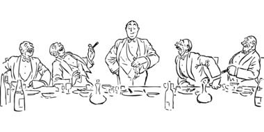 Clipart of people eating dinner