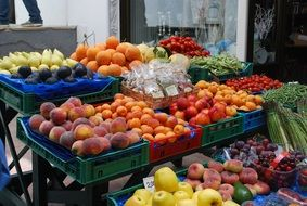 fruits on market stall, italy