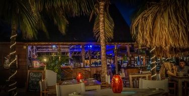 cocktail bar in curacao at night