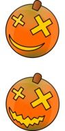 pumpkin face smiling halloween vegetable yellow