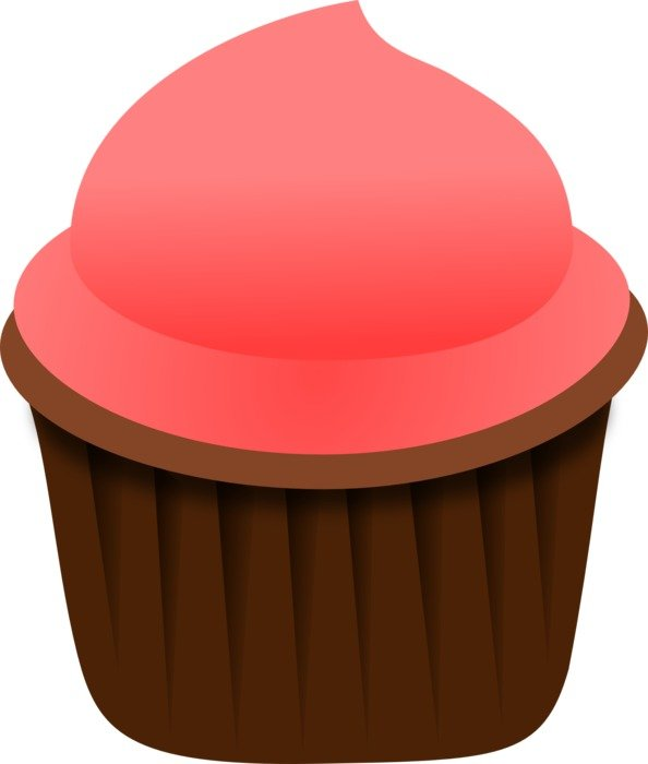 drawing of pink cupcake dessert