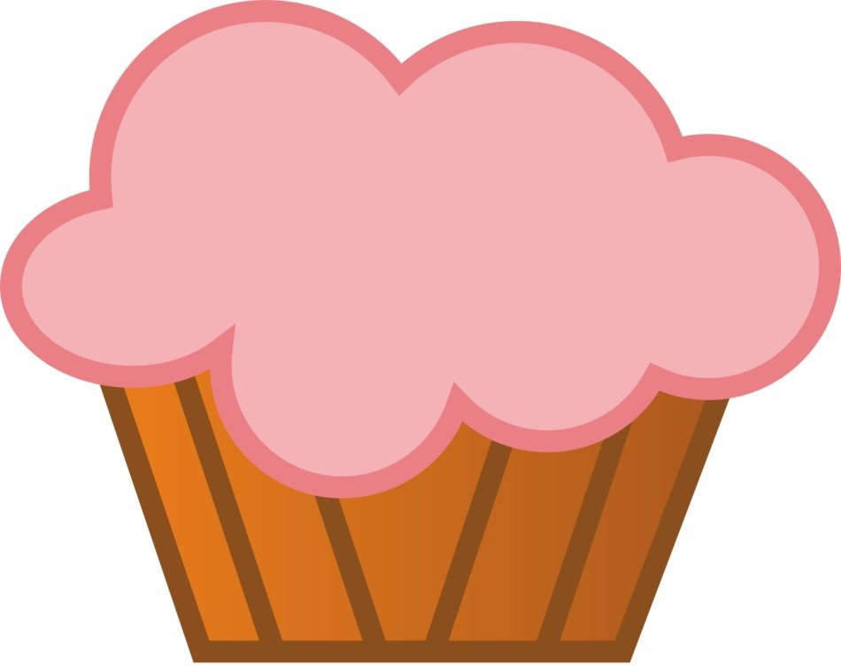 graphic image of a cupcake with pink cream