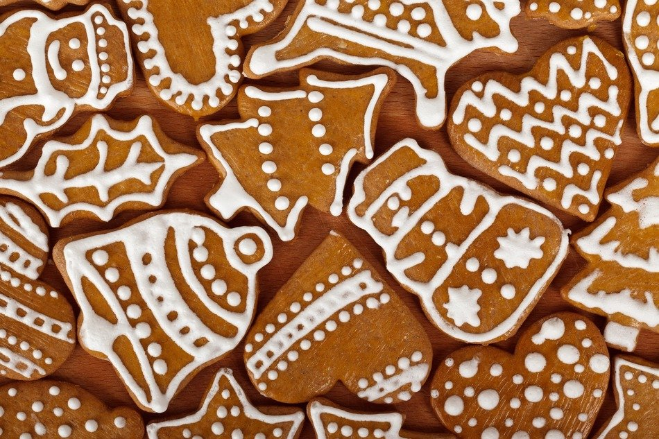 Brown christmas biscuits