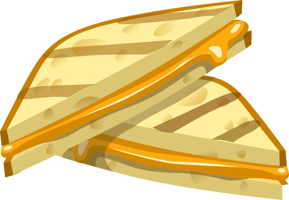 drawing slices of sandwiches