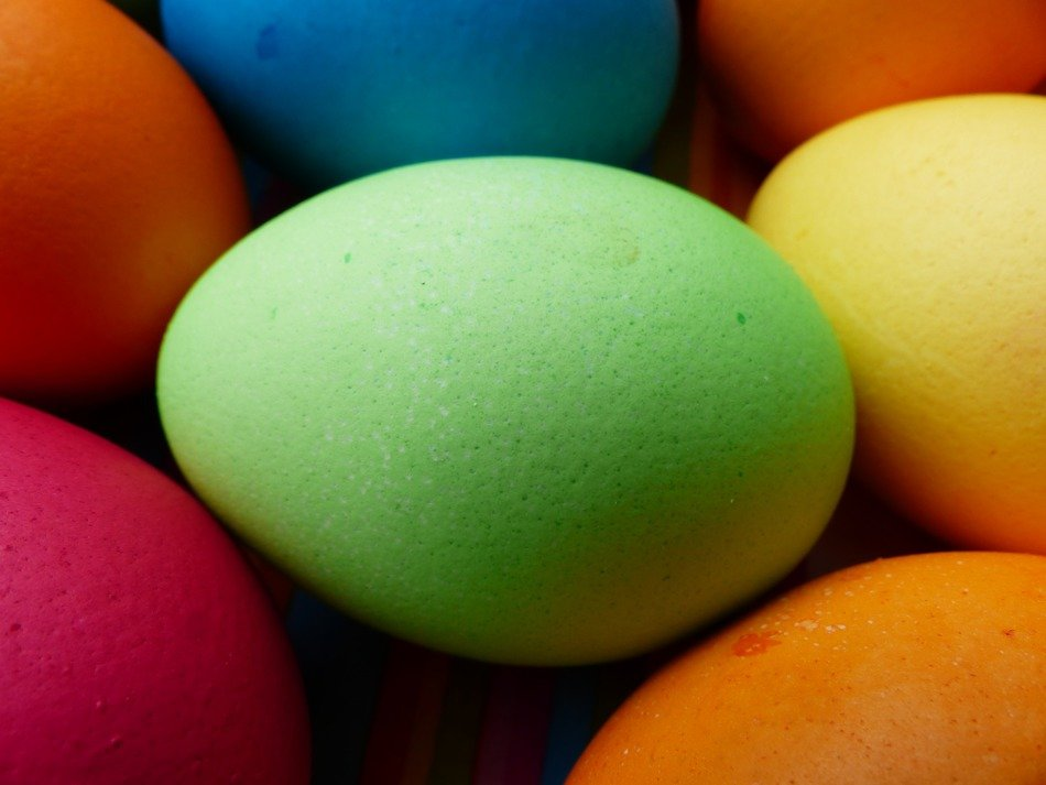beautiful painted easter eggs