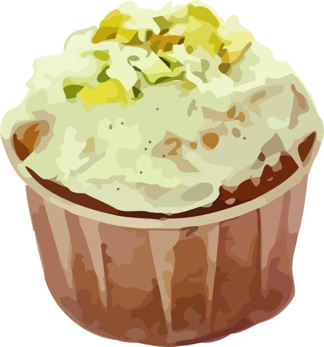 tasty healthy muffin drawing