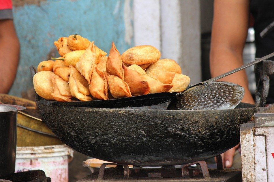 samosa is a fried dough with filling