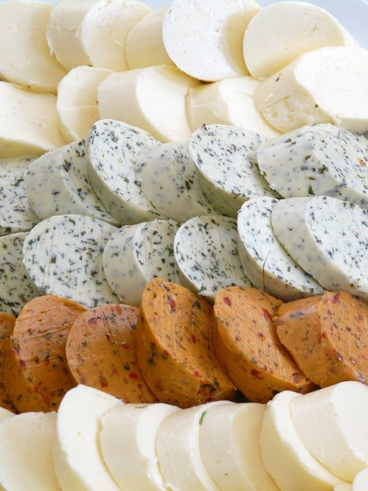 delicious cheeses of different varieties