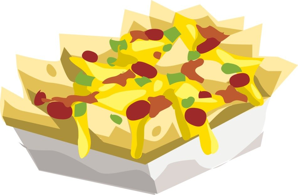nachos snack with sauce drawing