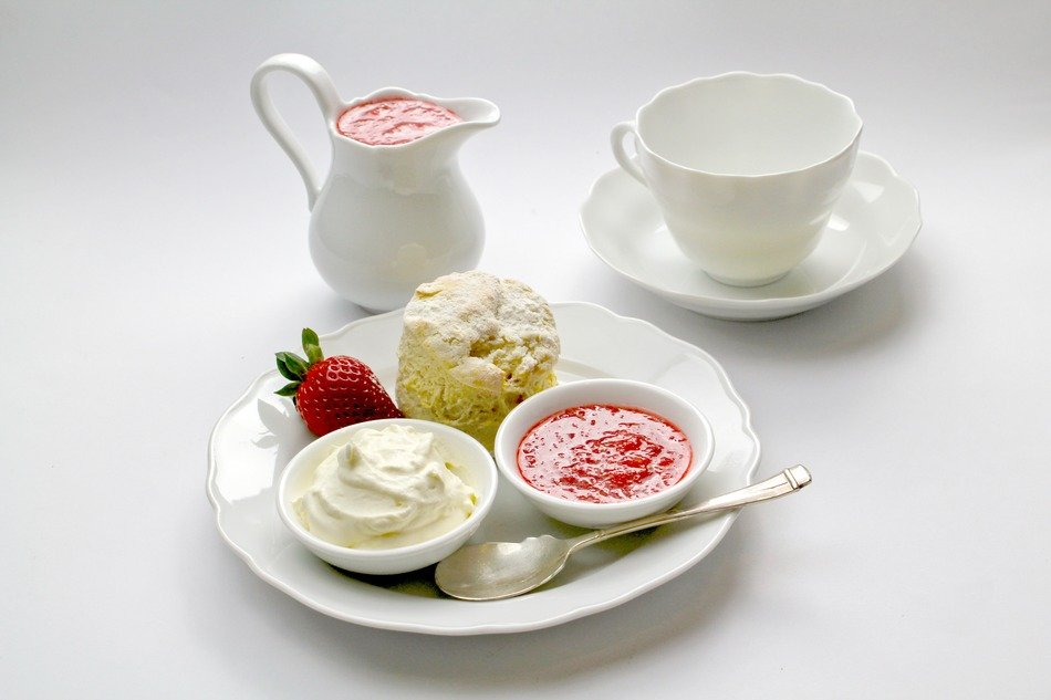 dessert set for tea