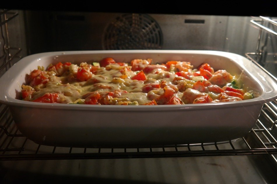 cheese casserole vegetable in stove