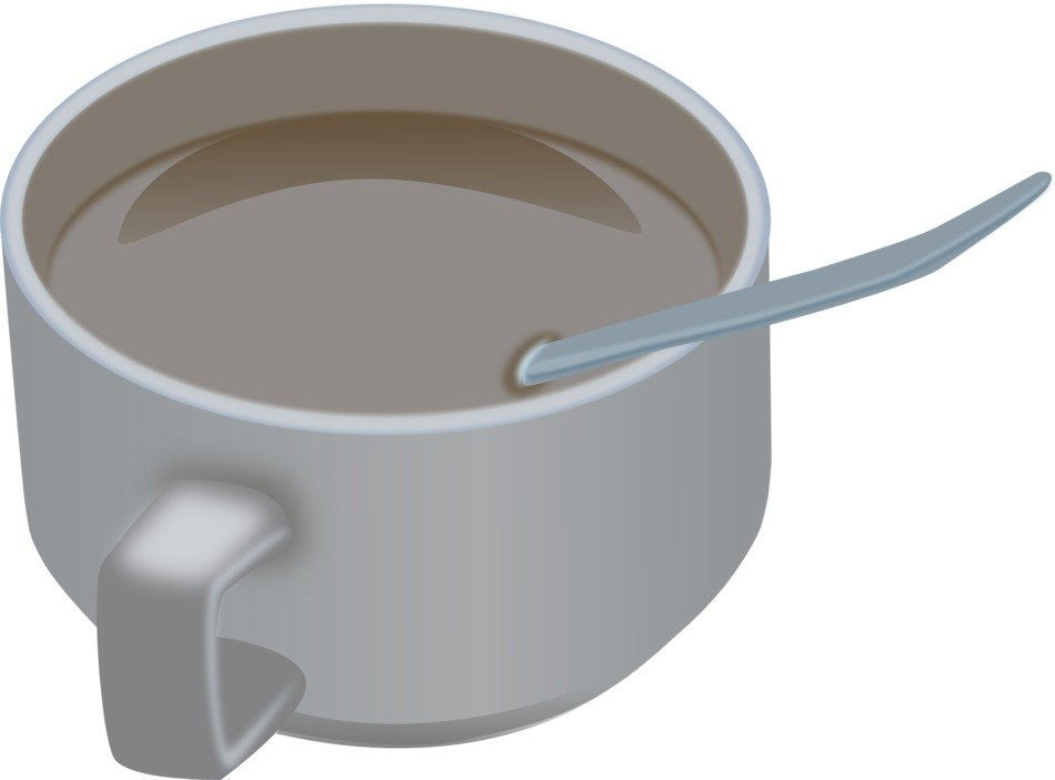 drawn cup with cocoa