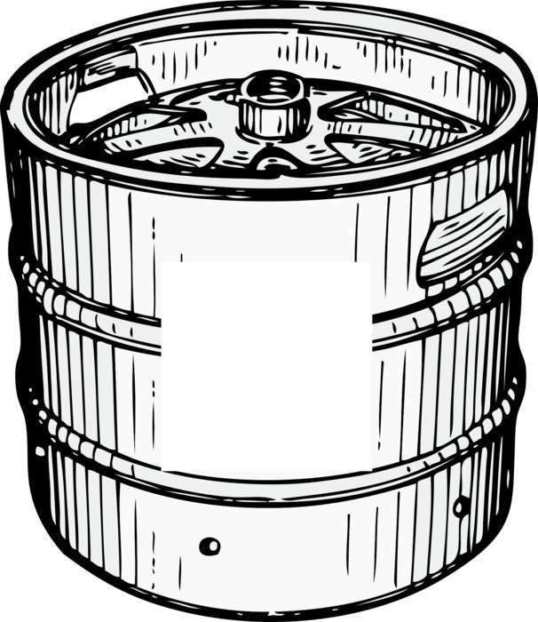 graphic image of a beer barrel