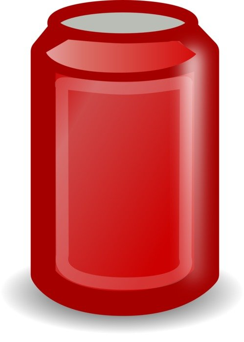 isolated red can