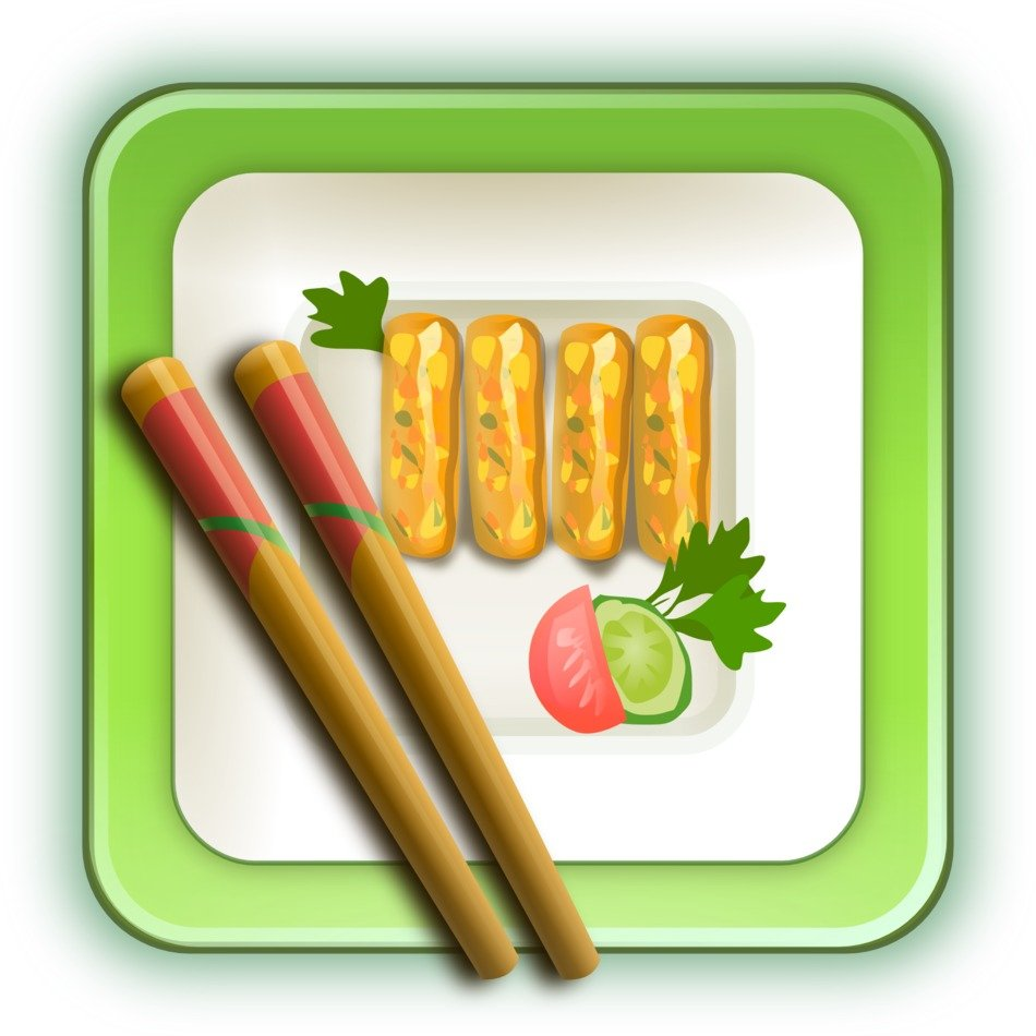 Sushi on the plate clipart