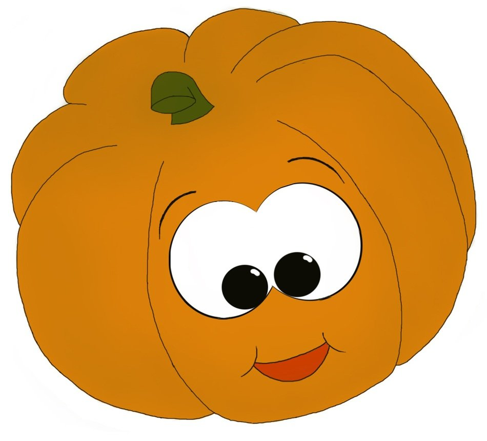 Orange pumpkin with a face clipart