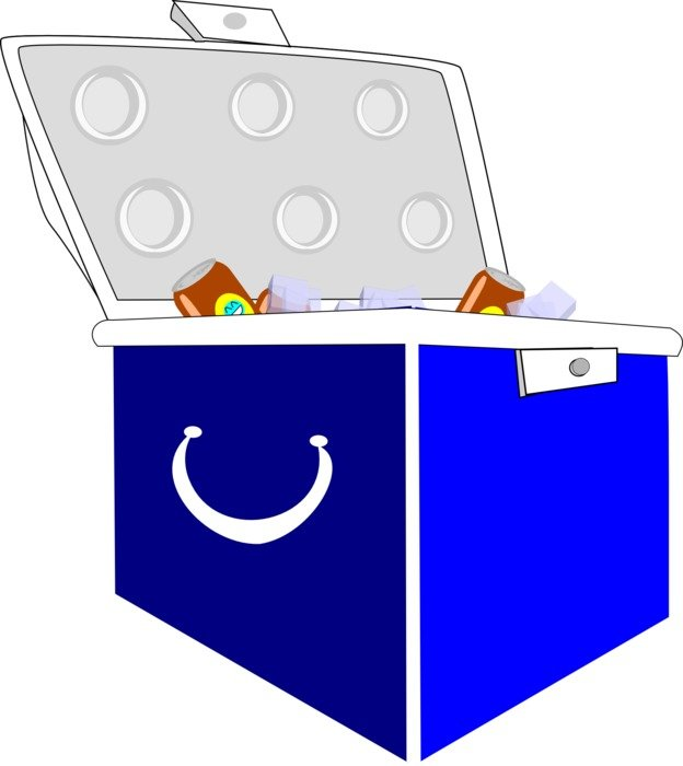 blue picnic box