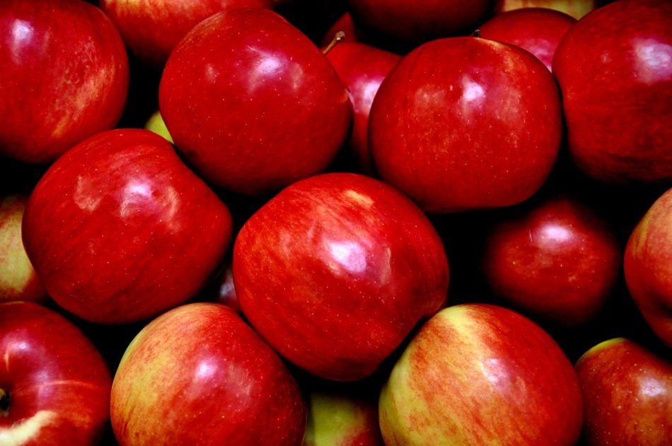red apples fruit