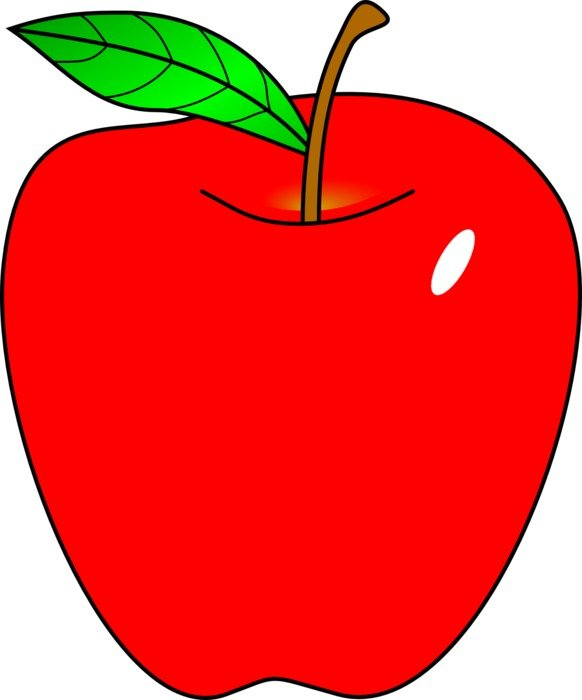 red apple fruit drawing