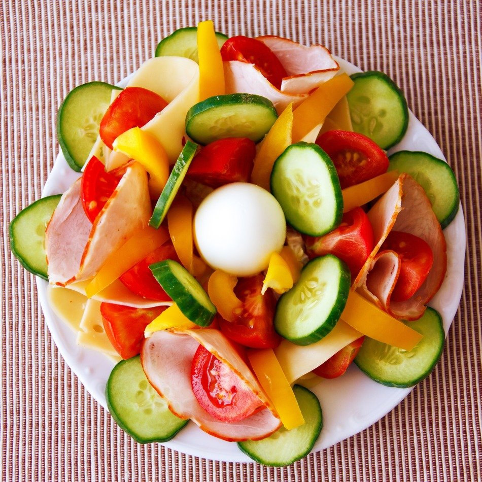vegetable salad for dinner or lunch