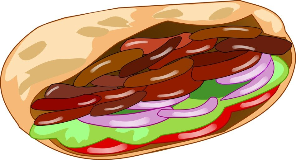 meat kebab as a drawing