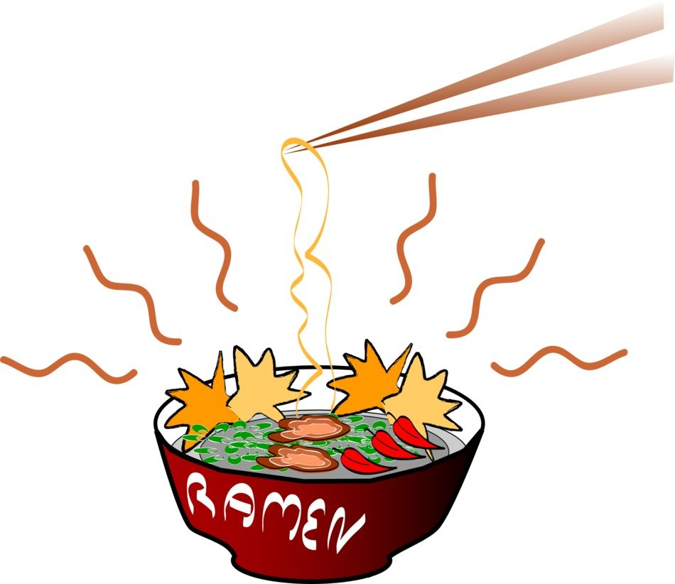 japanese noodles, fast food illustration