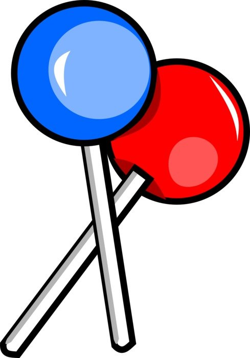 graphic image of two lollipops