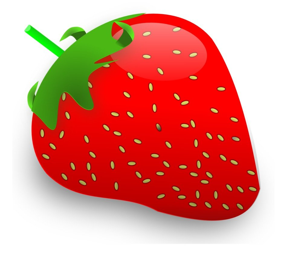 painted red strawberry