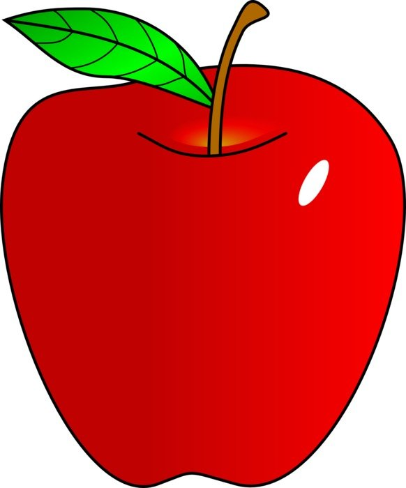 computer image of red apple