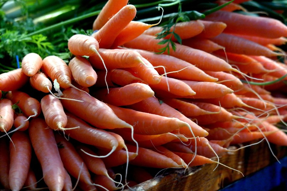 A lot of the carrots in the market