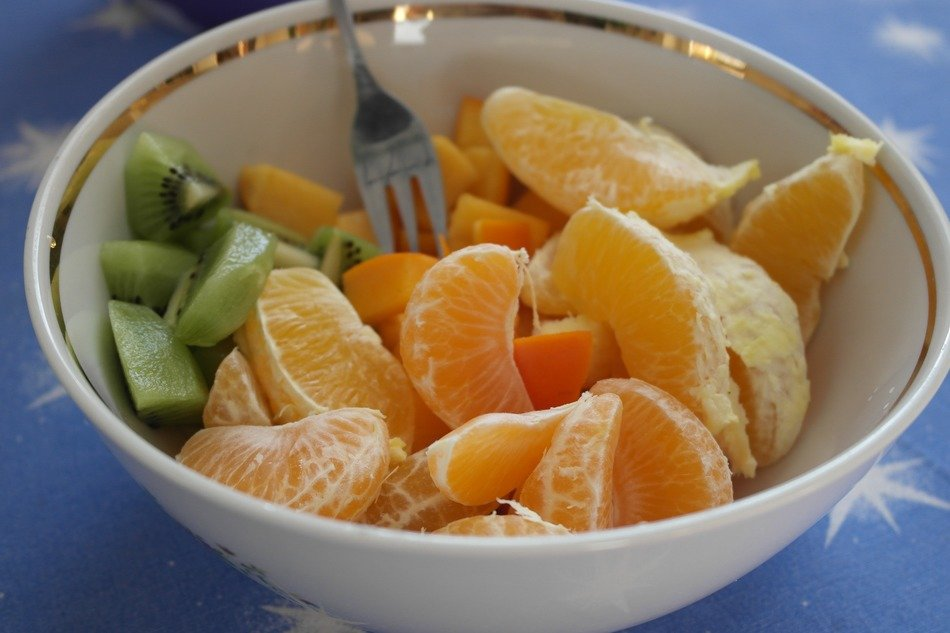 healthy nutritious fruit plate