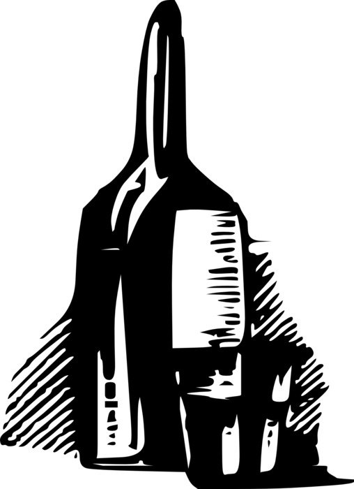 wine bottle with glasses drawing