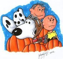 Great Pumpkin Charlie Brown drawing