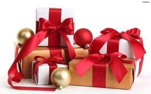 isolated Christmas gifts