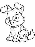 Black and white drawing of the beautiful dog clipart