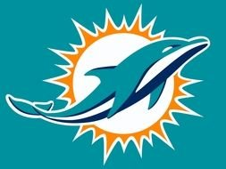 Miami blue Dolphins Logo drawing