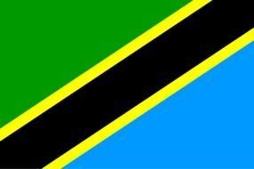 green-blue with stripes Tanzania Flag