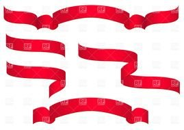 Red Ribbon Banners Clipart