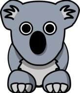 Cartoon Koala Bear drawing