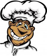 Clipart of Black Chef